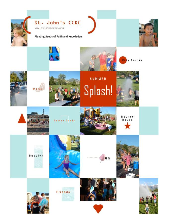 summer splash collage